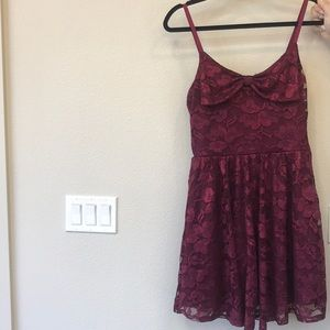 American Rag Burgundy Lace Holiday Dress